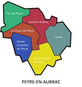 La commune nouvelle de Peyre en Aubrac
